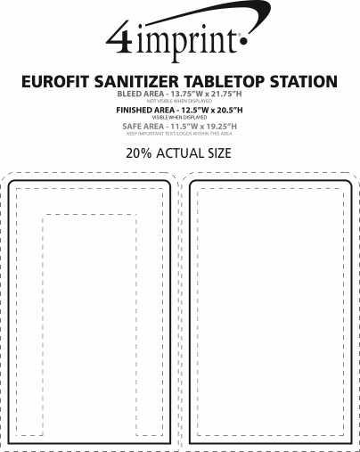 Imprint Area of EuroFit Sanitizer Tabletop Station