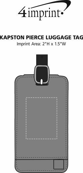 Imprint Area of Kapston Pierce Luggage Tag
