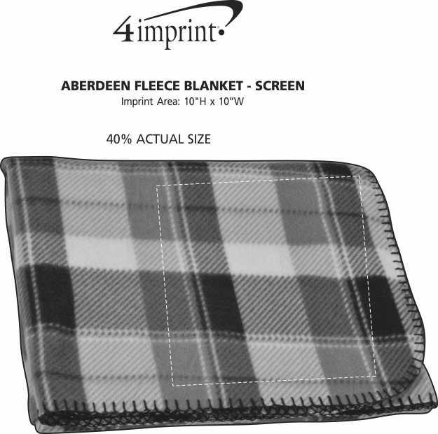 Imprint Area of Aberdeen Fleece Blanket - Screen