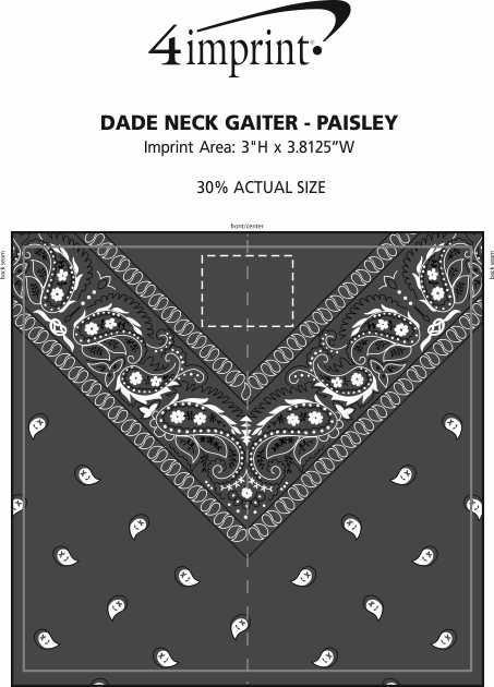 Imprint Area of Dade Neck Gaiter - Paisley