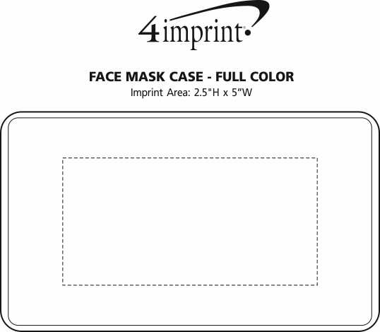Imprint Area of Face Mask Case - Full Color