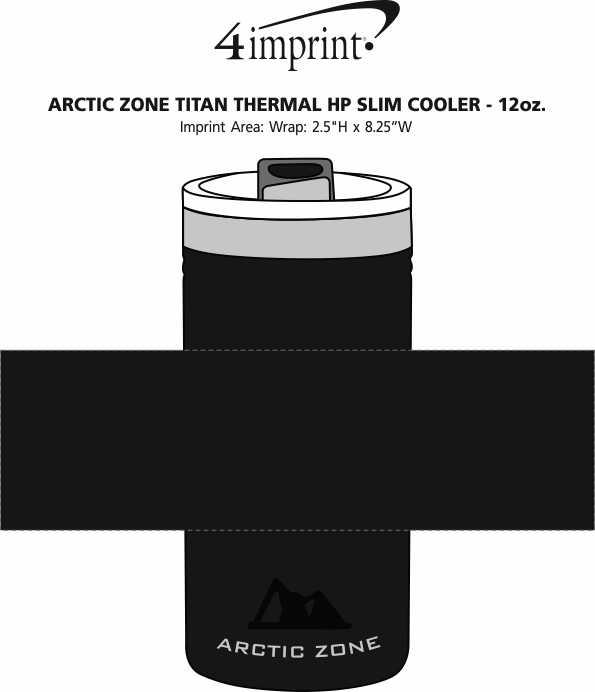 Imprint Area of Arctic Zone Titan Thermal HP Slim Cooler - 12 oz.