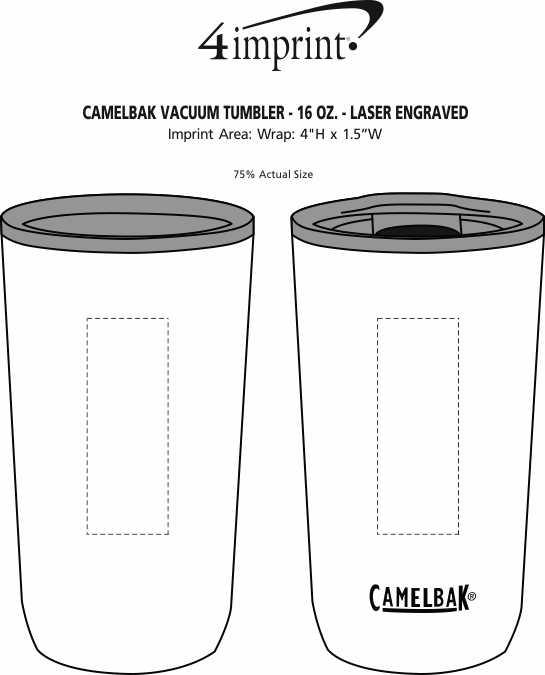 Imprint Area of CamelBak Vacuum Tumbler - 16 oz. - Laser Engraved