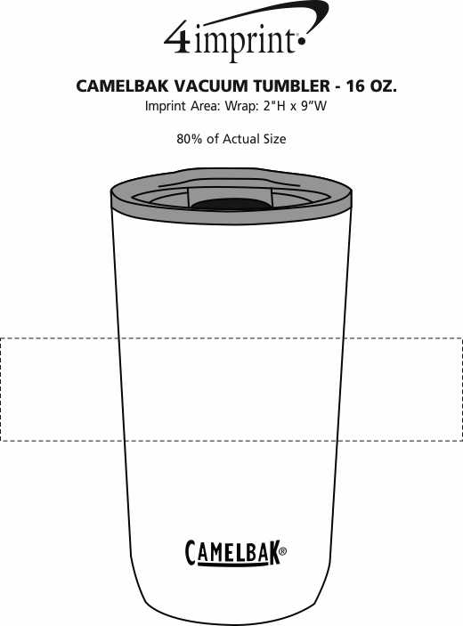 Imprint Area of CamelBak Vacuum Tumbler - 16 oz.