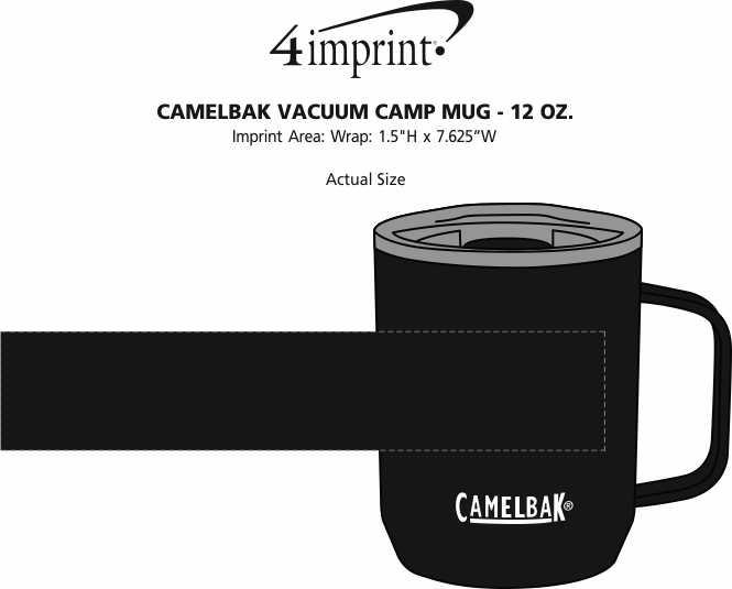 Imprint Area of CamelBak Vacuum Camp Mug - 12 oz.