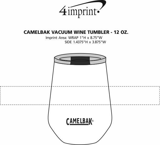 Imprint Area of CamelBak Vacuum Wine Tumbler - 12 oz.