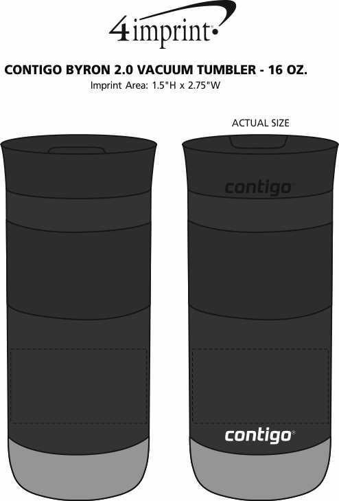 Imprint Area of Contigo Byron 2.0 Vacuum Tumbler - 16 oz.