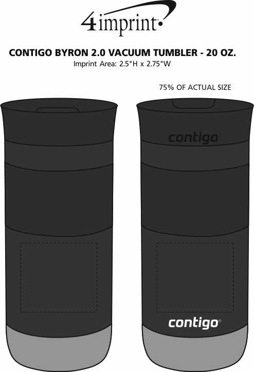 Imprint Area of Contigo Byron 2.0 Vacuum Tumbler - 20 oz.
