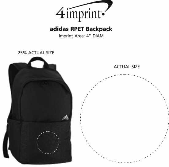 Imprint Area of adidas RPET Backpack