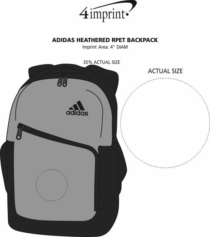 Imprint Area of adidas Heathered RPET Backpack