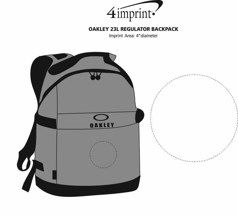 Imprint Area of Oakley 23L Regulator Backpack