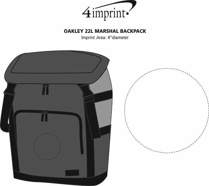 Imprint Area of Oakley 22L Marshal Backpack