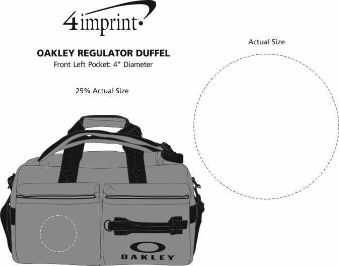 Imprint Area of Oakley Regulator Duffel