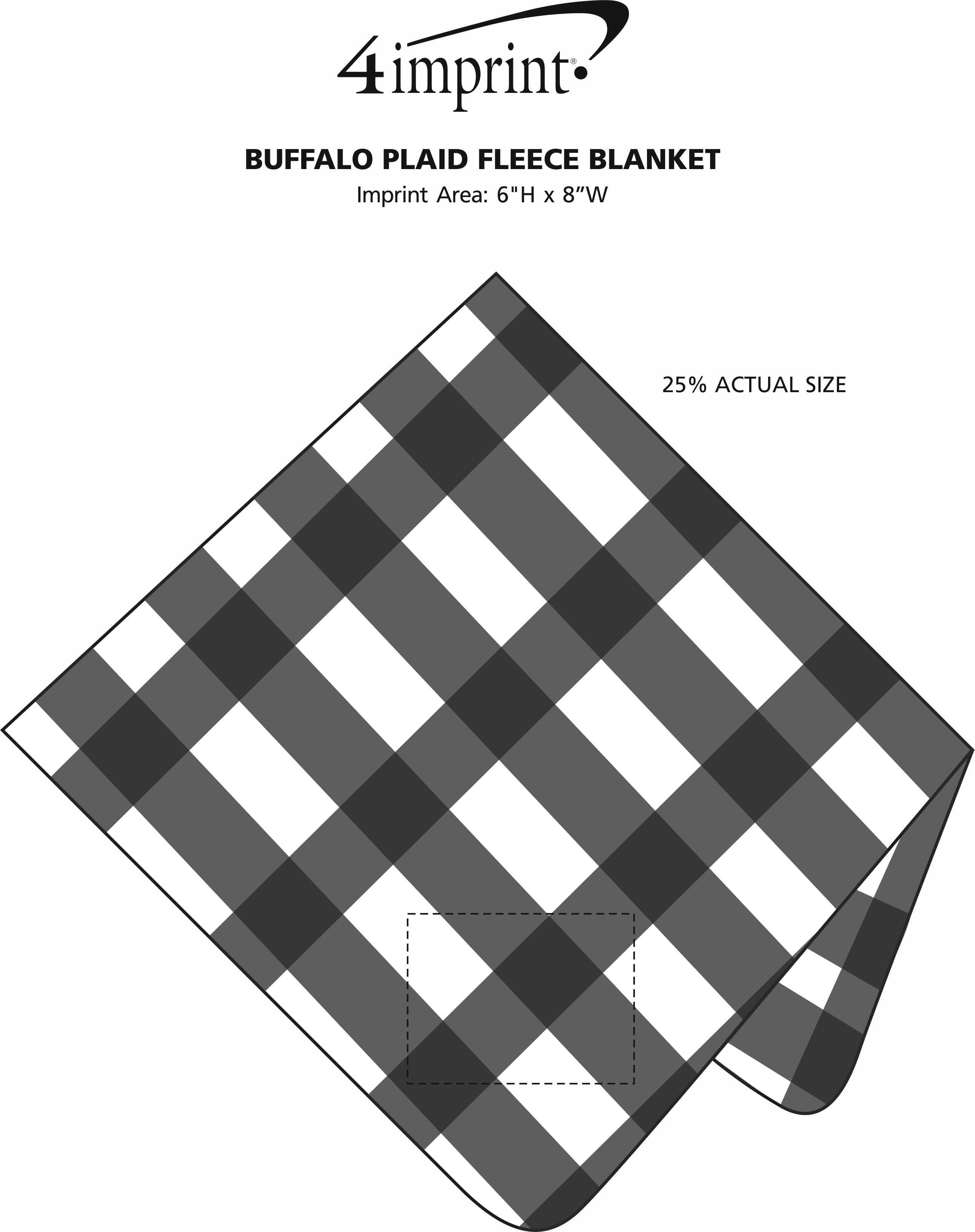 Imprint Area of Buffalo Plaid Fleece Blanket