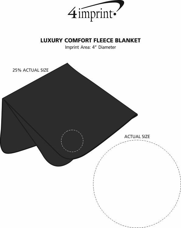 Imprint Area of Luxury Comfort Fleece Blanket
