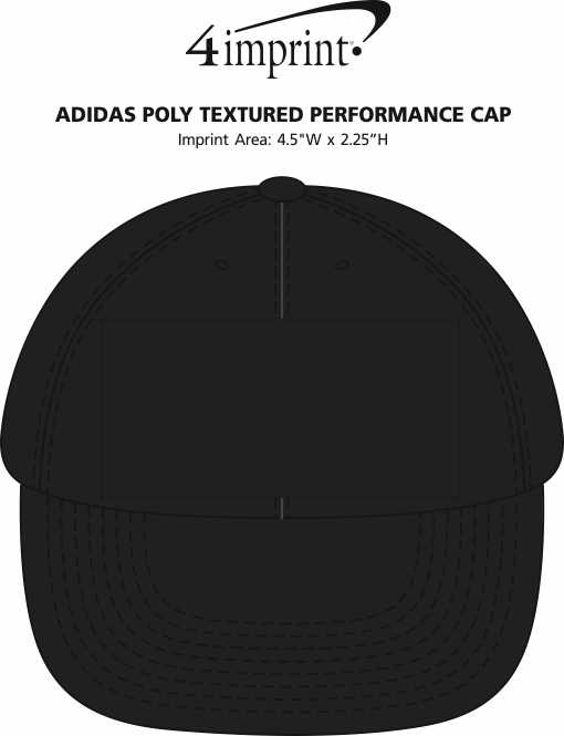 Imprint Area of adidas Poly Textured Performance Cap