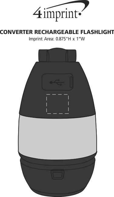 Imprint Area of Converter Rechargeable Flashlight