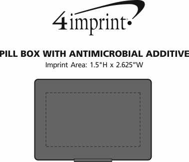 Imprint Area of Pill Box with Antimicrobial Additive
