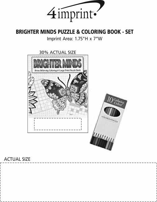 Imprint Area of Brighter Minds Puzzle & Coloring Book - Set