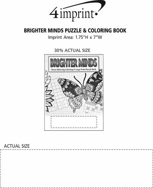 Imprint Area of Brighter Minds Puzzle & Coloring Book