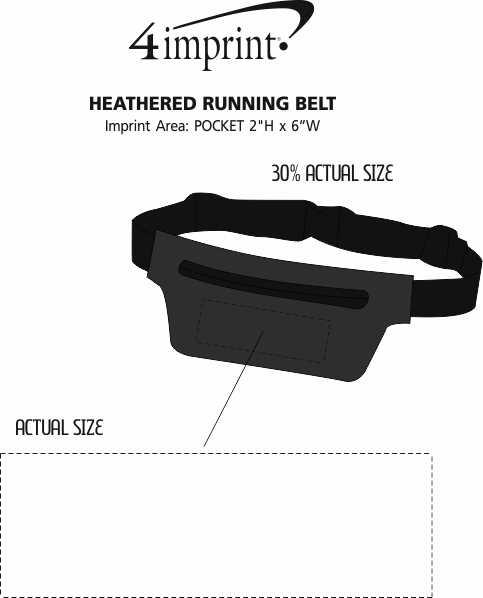 Imprint Area of Heathered Running Belt