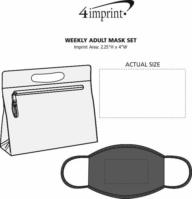 Imprint Area of Weekly Adult Mask Set