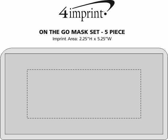 Imprint Area of On the Go Mask Set - 5 Piece