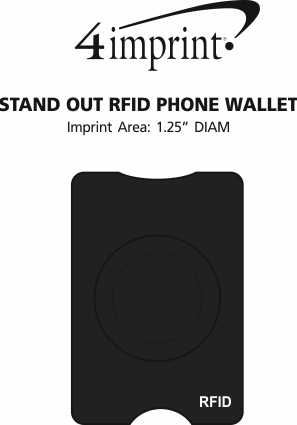 Imprint Area of Stand Out RFID Phone Wallet