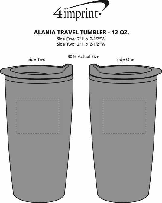 Imprint Area of Alania Travel Tumbler - 12 oz.