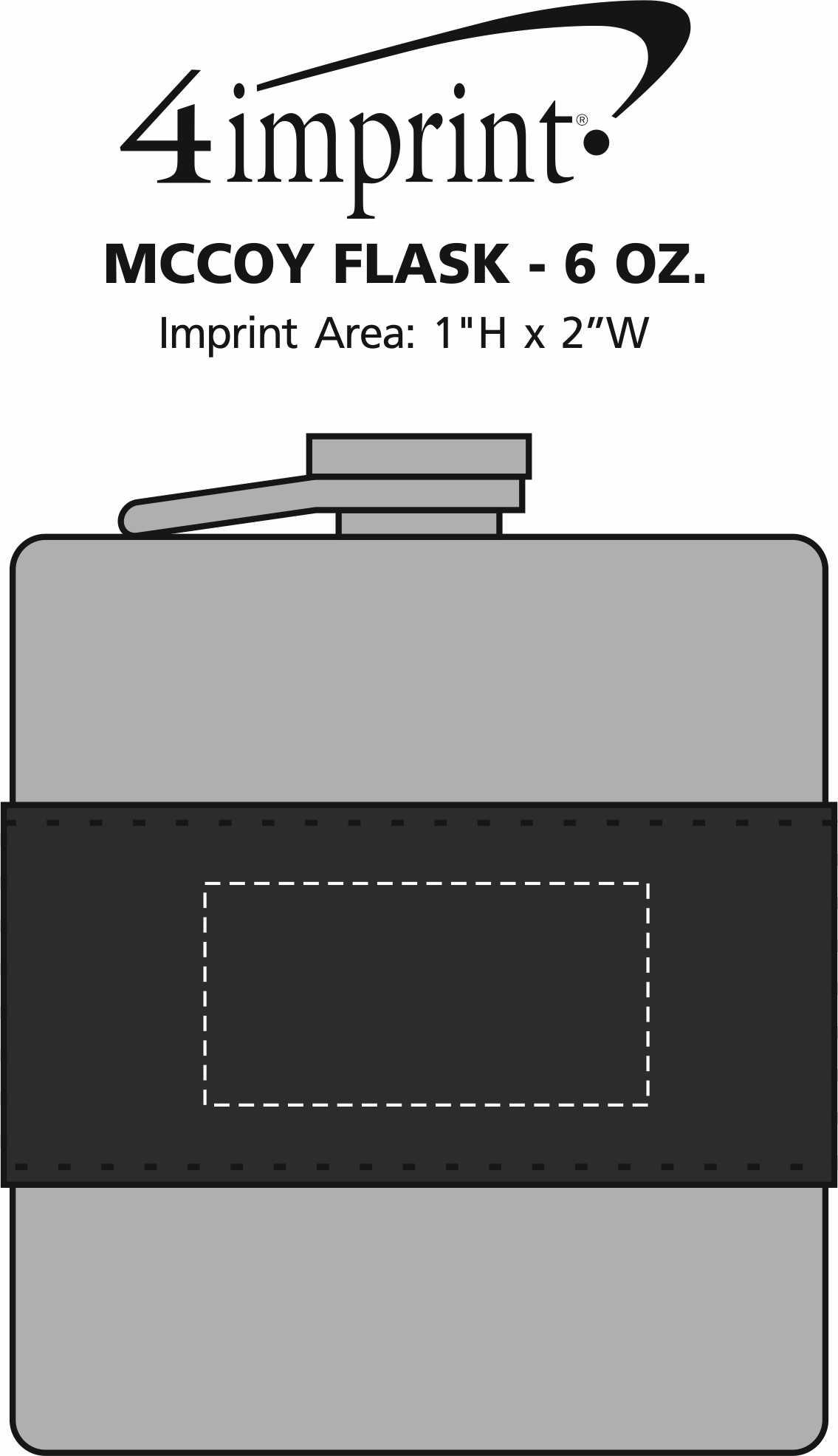 Imprint Area of McCoy Flask - 6 oz.