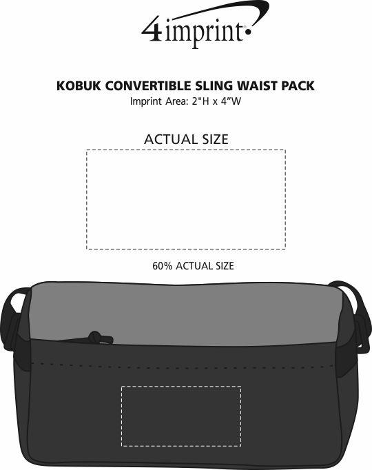 Imprint Area of Kobuk Convertible Sling Waist Pack