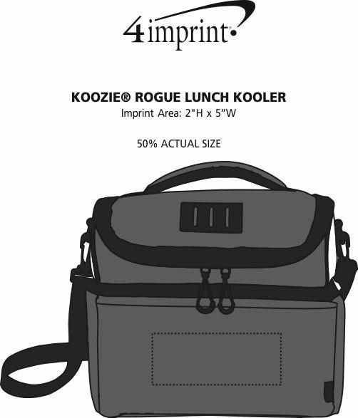 Imprint Area of Koozie® Rogue Lunch Kooler