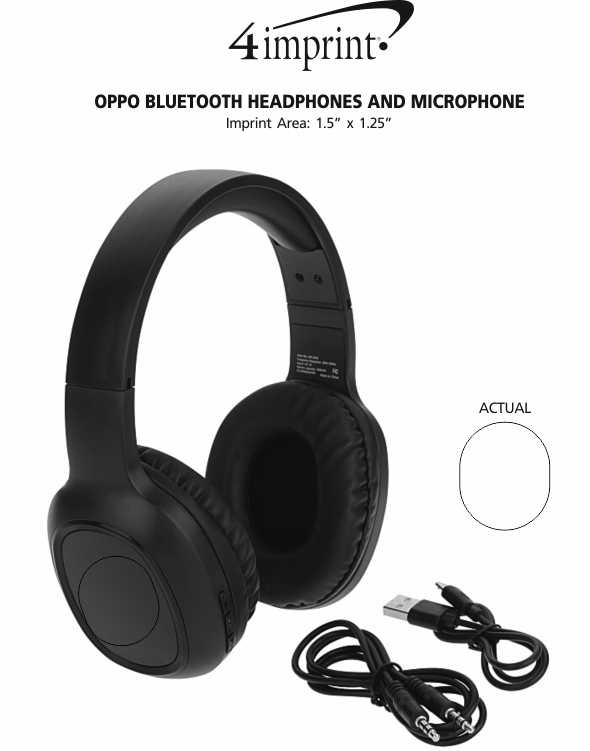 Imprint Area of Oppo Bluetooth Headphones and Microphone
