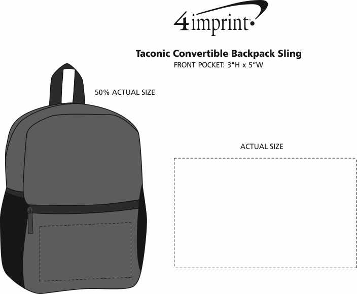 Imprint Area of Taconic Convertible Backpack Sling
