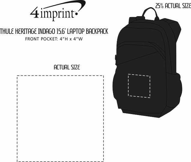 "Imprint Area of Thule Heritage Indago 15.6"" Laptop Backpack"
