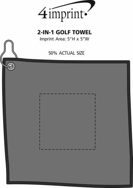 Imprint Area of 2-in-1 Golf Towel