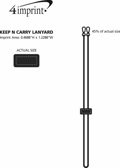 Imprint Area of Keep N Carry Lanyard