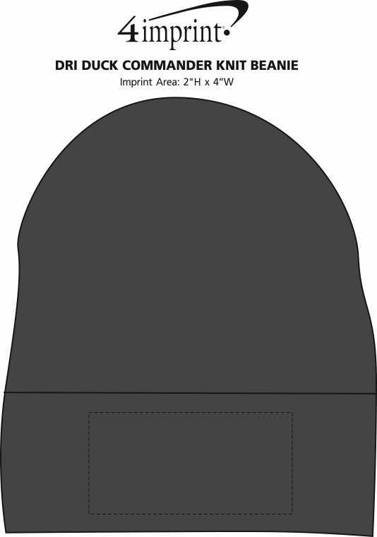Imprint Area of DRI DUCK Commander Knit Beanie