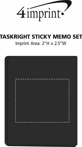 Imprint Area of TaskRight Sticky Memo Set