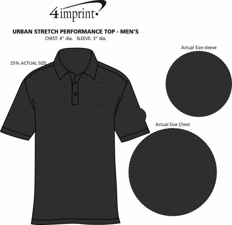 Imprint Area of Urban Stretch Performance Polo - Men's