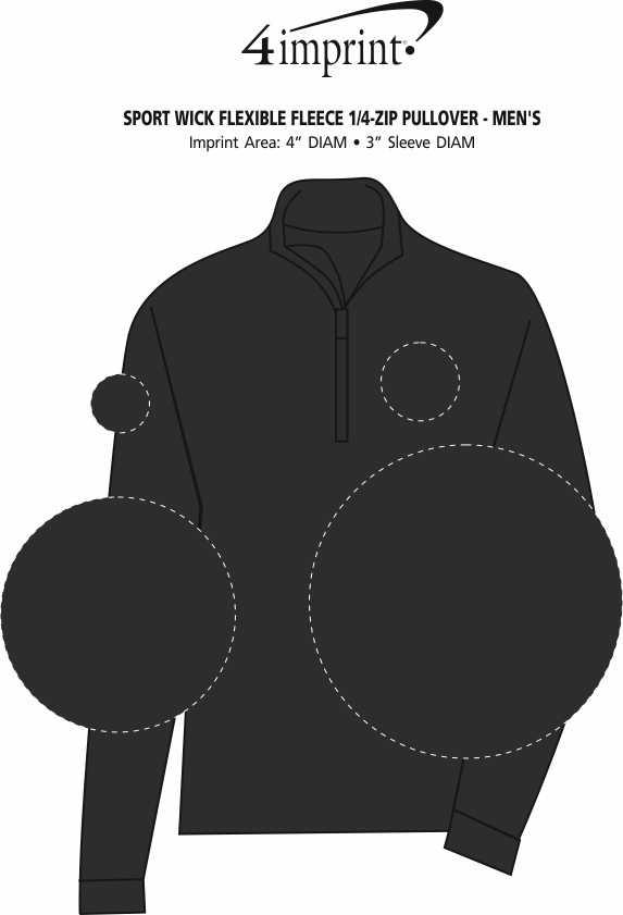 Imprint Area of Sport Wick Flexible Fleece 1/4-Zip Pullover - Men's