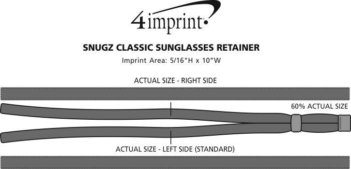 Imprint Area of Classic Sunglasses Retainer