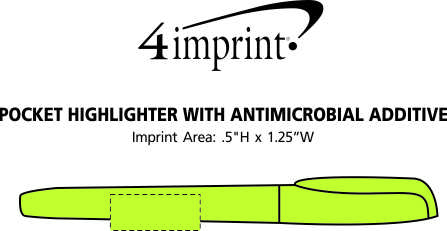 Imprint Area of Pocket Highlighter with Antimicrobial Additive