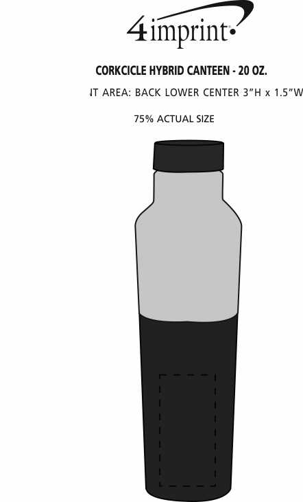 Imprint Area of Corkcicle Hybrid Canteen - 20 oz.