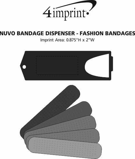 Imprint Area of Nuvo Bandage Dispenser - Fashion Bandages