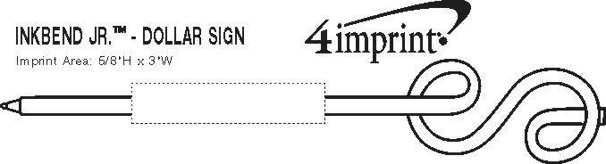 Imprint Area of Inkbend Standard - Dollar Sign
