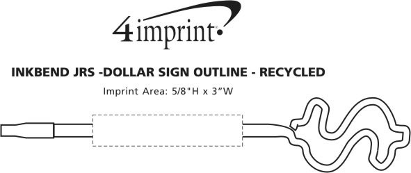 Imprint Area of Inkbend Standard - Dollar Sign Outline - Recycled