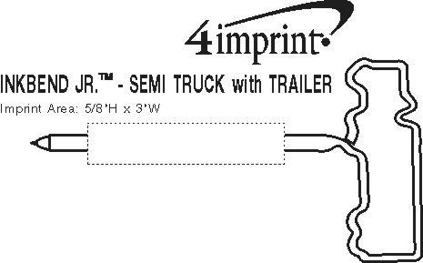 Imprint Area of Inkbend Standard - Semi Truck with Trailer