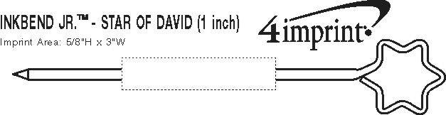 "Imprint Area of Inkbend Standard - Star of David - 1"""