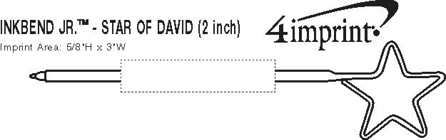 "Imprint Area of Inkbend Standard - Star of David - 2"""